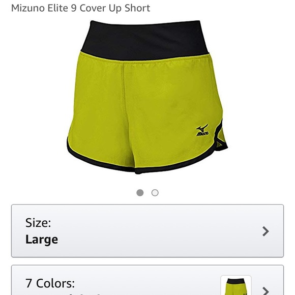 mizuno dynamic cover up shorts